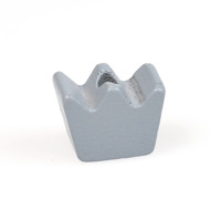 Motivpärla mini-krona, grå