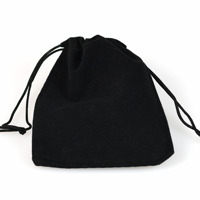 Sammetpåse svart, 7x9cm