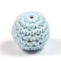 Virkad pärla, ljusblå, 20mm