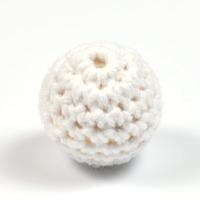 Virkad pärla, vit, 20mm