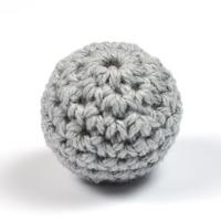 Virkad pärla, grå, 20mm