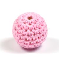 Virkad pärla, rosa, 20mm
