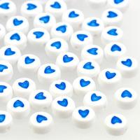 Hjärtan vit-blå