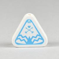 Motivpärla tipi tält, vit-ljusblå – utförsäljning