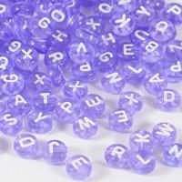Transparenta bokstavspärlor, lavendel – utförsäljning