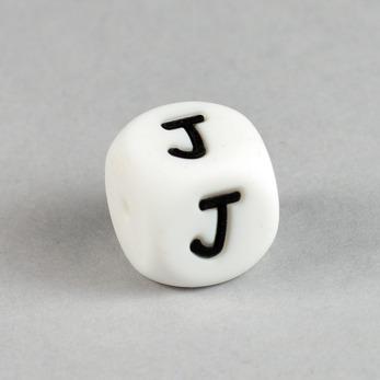 Bokstavspärla i silikon *J*