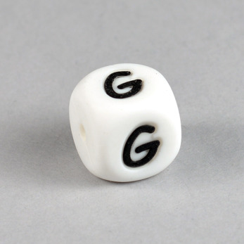 Bokstavspärla i silikon *G*