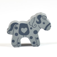 Motivpärla häst, grå