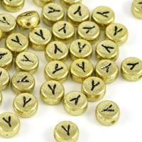 Bokstavspärlor guld *Y*