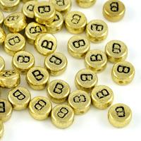 Bokstavspärlor guld *B*