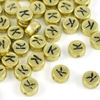 Bokstavspärlor guld *K*
