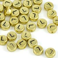 Bokstavspärlor guld *L*