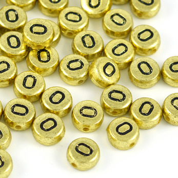 Bokstavspärlor guld *O*
