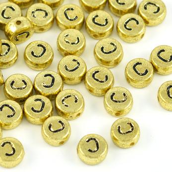 Bokstavspärlor guld *C*