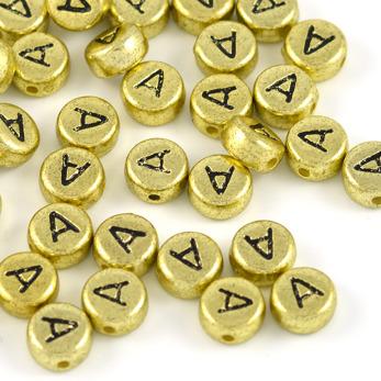 Bokstavspärlor guld *A*