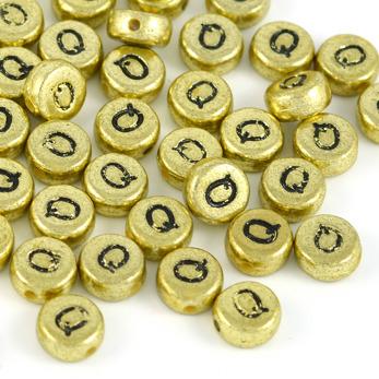 Bokstavspärlor guld *Q*