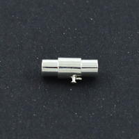 Magnetlås och -avslut, silver, 4mm – utförsäljning