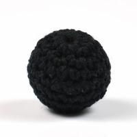 Virkad pärla, svart, 20mm