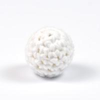 Virkad pärla, vit, 16mm