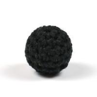 Virkad pärla, svart, 16mm