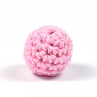 Virkad pärla, rosa, 16mm