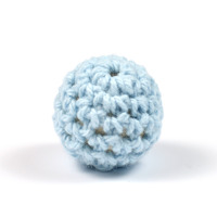 Virkad pärla, ljusblå, 16mm