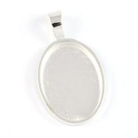 Oval ramberlock, silver, stilren, 18x25mm – utförsäljning
