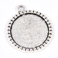 Ramberlock med nitar, antiksilver, 25mm