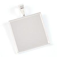 Ramberlock, silver, fyrkantig, 25mm