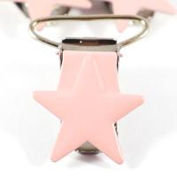 Metallclips stjärna, puderrosa