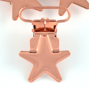 Metallclips stjärna, koppar