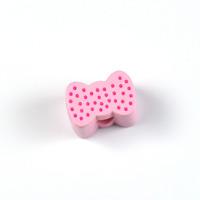 Motivpärla mini-rosett, ljusrosa