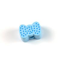 Motivpärla mini-rosett, ljusblå