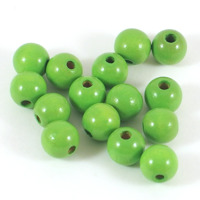 Träpärlor ljusgrön, 10mm