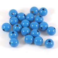 Träpärlor blå, 10mm