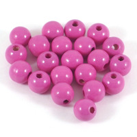 Träpärlor cerise, 10mm