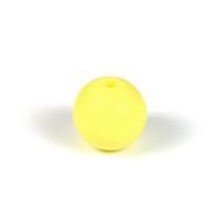 Silikonpärlor 12mm, pastellgul