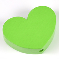Motivpärla stort hjärta, ljusgrön