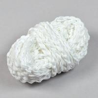 Flätat bomullsgarn, vit – utförsäljning