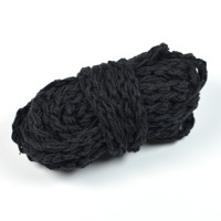 Flätat bomullsgarn, svart – utförsäljning