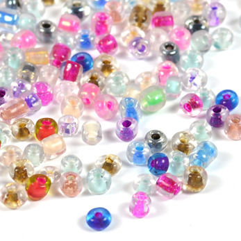6/0 Seed beads, color inside mix, 4mm