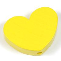 Motivpärla stort hjärta, pastellgul
