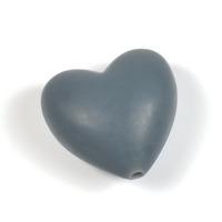 Silikonhjärta grå