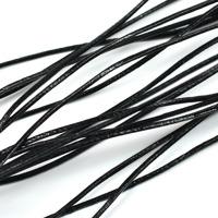 Lädersnöre svart, 1mm