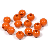 Träpärlor orange, 8mm