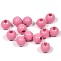Träpärlor rosa, 8mm