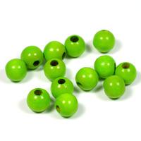 Träpärlor ljusgrön, 8mm