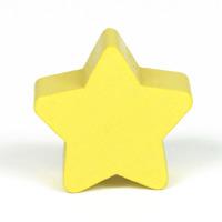 Motivpärla stjärna, pastellgul