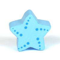 Motivpärla sjöstjärna, ljusblå