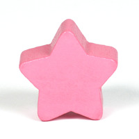 Motivpärla stjärna, rosa